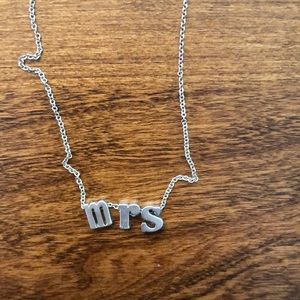 Jewelry - MRS initials necklace sterling silver